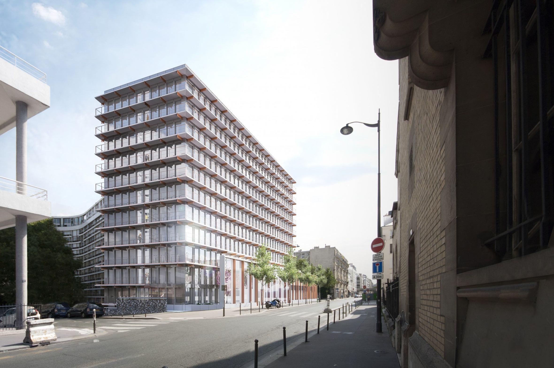 High rise office building paris u hardel le bihan architectes