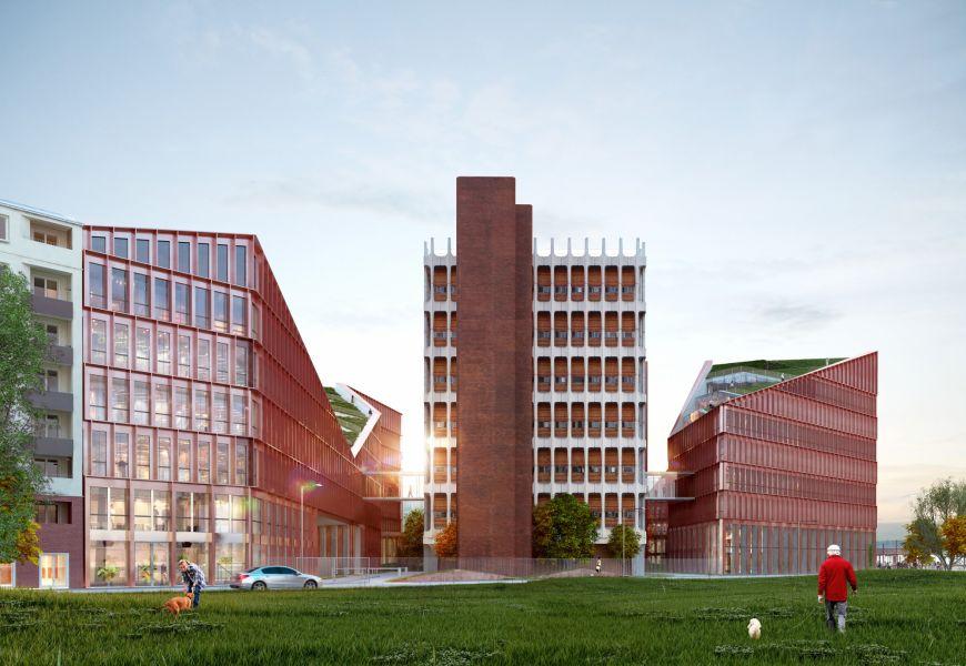 orange campus lyon hardel le bihan architectes. Black Bedroom Furniture Sets. Home Design Ideas