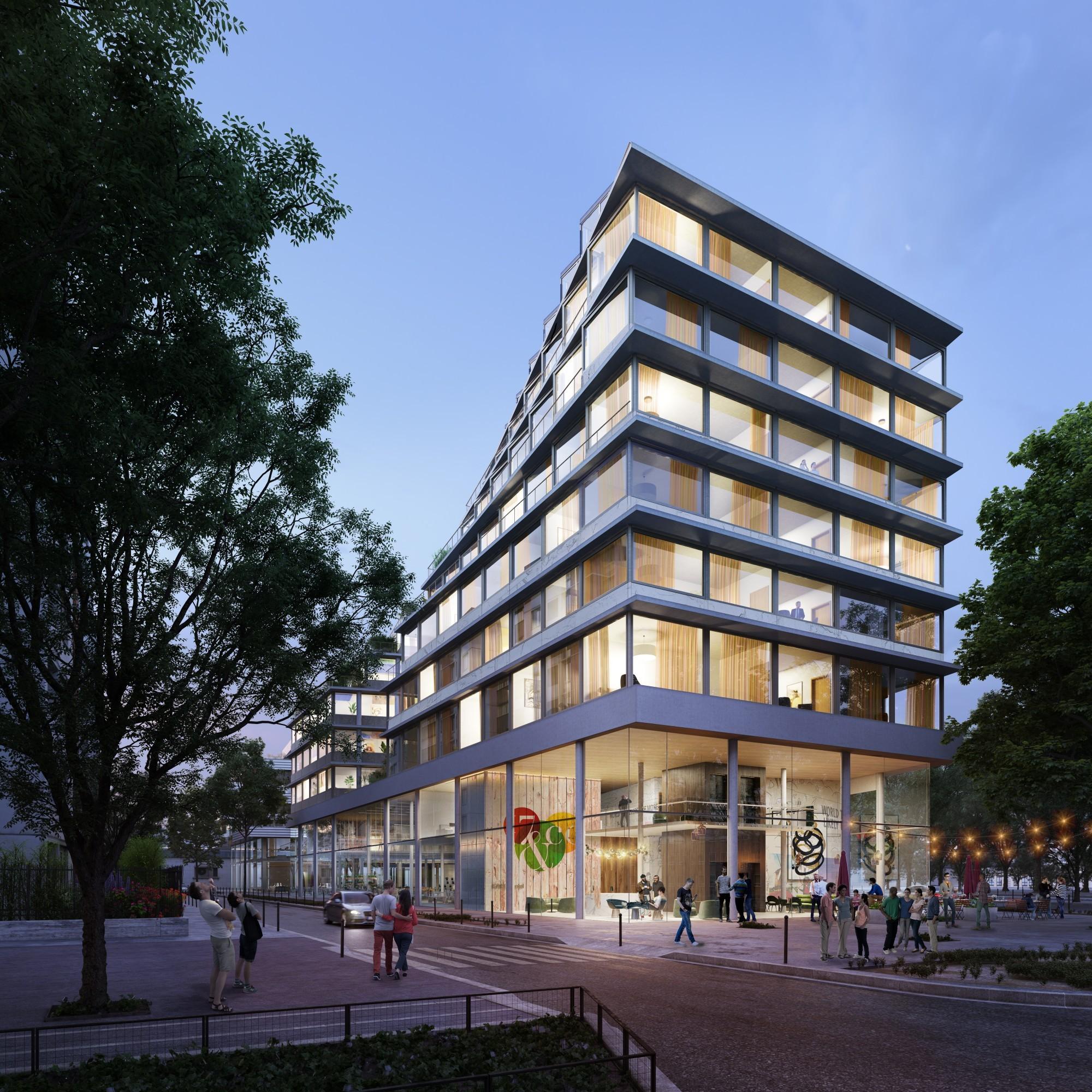 mixed development paris hardel le bihan architectes. Black Bedroom Furniture Sets. Home Design Ideas